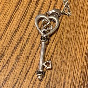 Open Hearts by Jane Seymour Key Necklace